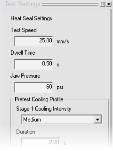 Pilot test software for hot tack and heat seal testing.